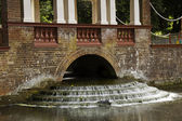 Weir with slow shutter speed water — Stock Photo