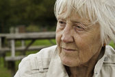 Sad senior woman — Stock Photo