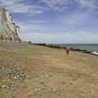 St Margaret at Cliffe, woman walking along — Stock Photo