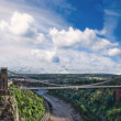 Clifton suspension bridge. - Stock Photo
