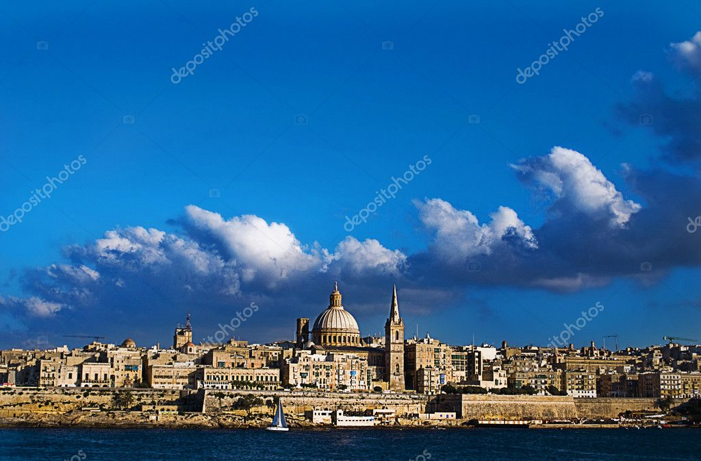 View of Valetta, Malta taken from Sliema.  Stock Photo #11921900