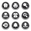 Black internet buttons — Stock Vector