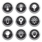 Light bulb buttons — Stockvector