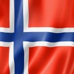 Flaga norweski — Zdjęcie stockowe