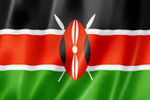 Kenyan flag — Stock Photo