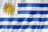 Uruguaian flag — Stock Photo