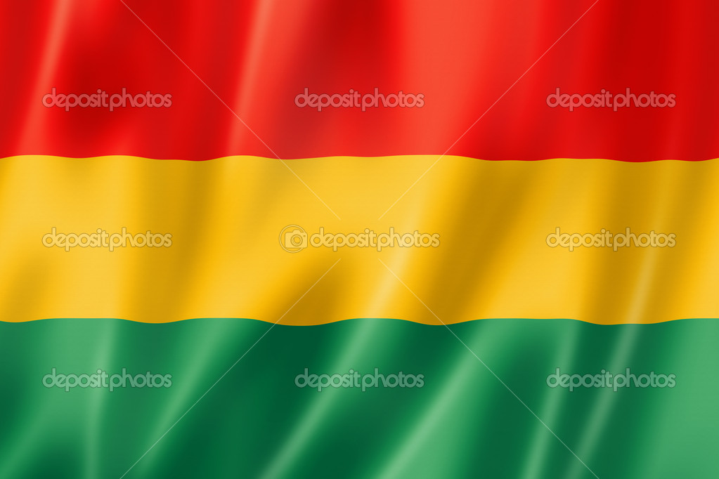 Bolivia flag, three dimensional render, satin texture — Stock Photo #11399203