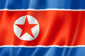 North Korean flag — Stock fotografie