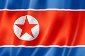 Bandera de corea del norte — Foto de Stock
