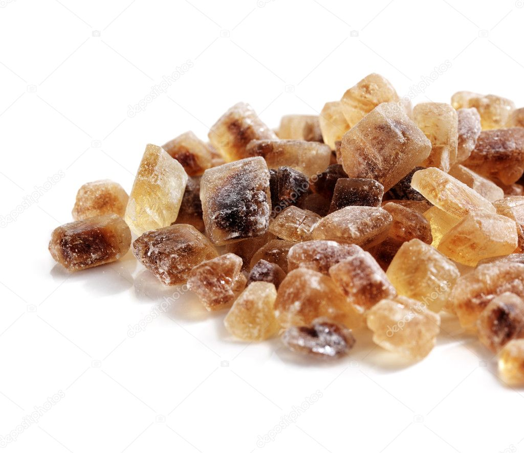 Chrystals of Candi Sugar aka Rock sugar. — Stock Photo #10914903