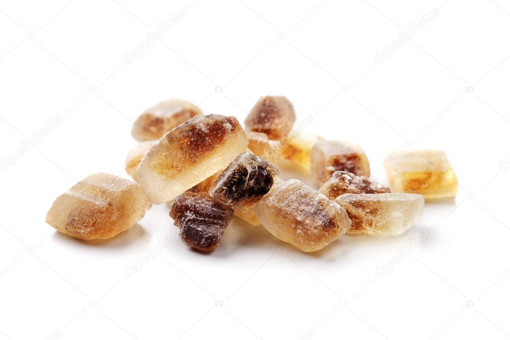 Chrystals of Candi Sugar aka Rock sugar. — Stock Photo #10914905