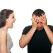 Unhappy young couple having an argument — Stockfoto #11079537