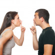 Unhappy young couple having an argument — Stock Photo #11079574