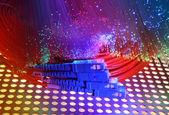 Vezel optische netwerkkabel — Stockfoto