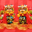 Traditional dancing lion for lucky of Chinese New Year — Stock Photo