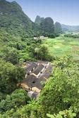 Landschap in yangshuo guilin, china — Stockfoto