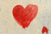 Heart painted on grunge wall — Stock Photo