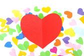 En forma de corazón rojo — Foto de Stock