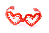 Glasses with heart shape glass — Stock Photo