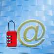 Royalty-Free Stock Photo: Padlock email   safety internet mail