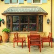 Stock Photo: Outside view of vintage style coffee shop