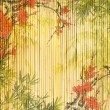 Stock Photo: Design of chinese bamboo trees with texture of handmade paper