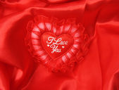 Lace heart pillow — Stock Photo