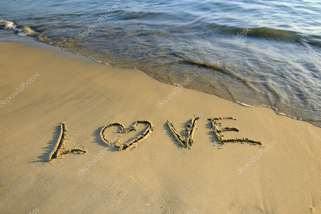 Love in the sand  — Stock Photo #11757014