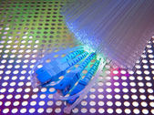Abstract Internet technology fiber optic background — Stock Photo