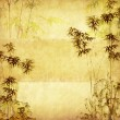 Bamboo on old grunge paper texture background — Stock Photo #11802767