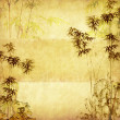 Bamboo on old grunge paper texture background — Stockfoto #11802767