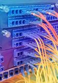 оптический кабель служат технологии стиле фоне оптического волокна — Стоковое фото