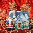 House of christmas card with Decorations — Foto Stock