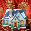 House of christmas card with Decorations — Foto de Stock