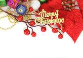 Regalo de navidad con fondo blanco — Foto de Stock