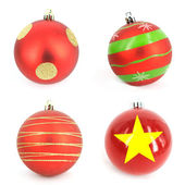 Traditional Christmas ball isolated on white background — Stock Photo