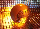 Glóbus s pozadím špičkových technologií — Stock fotografie