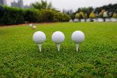 Metal golf driver — Stock Photo