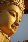 Buddha gold statue close-up — Stock Photo