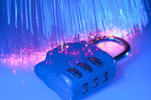 Data security with fiber optical — Stock Photo