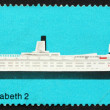 Stock Photo: Postage stamp GB 1969 R.M.S. Queen Elizabeth 2, British Ship