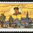 Postage stamp Belgium 1994 Liberation of Belgium - Stock Photo