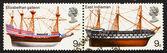 Postage stamp GB 1969 Elizabethan Galleon and East Indiaman, Bri — Stock Photo