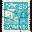 Stock Photo: Postage stamp Denmark 1927 Caravel, Sailing Ship