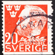 Postage stamp Sweden 1946 Alfred Nobel, Inventor and Philanthrop - Stock fotografie