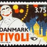 Постер, плакат: Postage stamp Denmark 1993 Pierrot by Thor Bogelund Poster