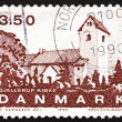 Stock Photo: Postage stamp Denmark 1990 Gjellerup Church, Jutland
