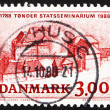 Postage stamp Denmark 1988 Tonder Teachers' Training College — Stock Photo