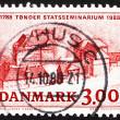 Postage stamp Denmark 1988 Tonder Teachers' Training College — Stock Photo