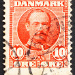 Постер, плакат: Postage stamp Denmark 1907 Frederik VIII King of Denmark